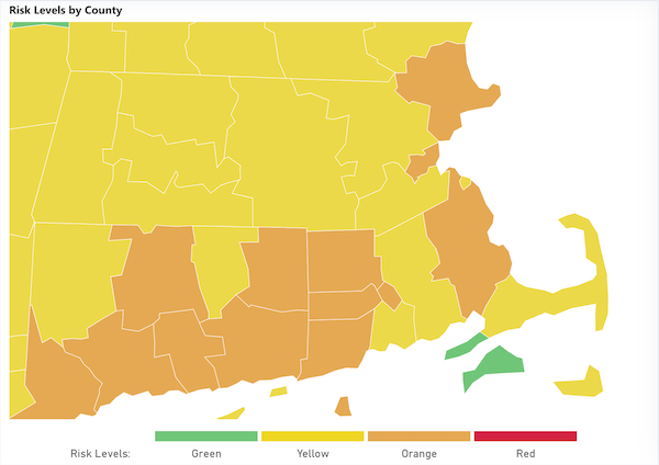 Risk Level By County